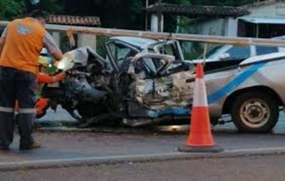 Joven Muere tras Brutal choque en Caacupé