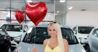 Eli Villagra recibió una camioneta como regalo de San Valentín