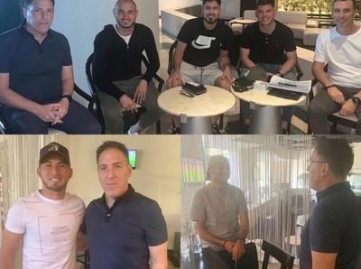 DT de la Albirroja dio continuidad a reuniones con futbolistas paraguayos en México