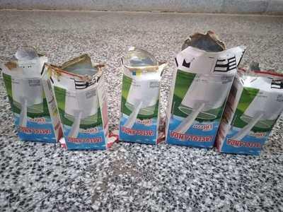 Incautan cartones de leche que contenían bebidas alcohólicas en penal de Concepción
