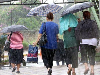 Alerta de tormentas para seis departamentos