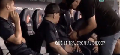 ¿Qué le dieron a Maradona en el banco de suplentes?