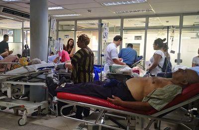 Capital sigue con urgencias colapsadas por la epidemia