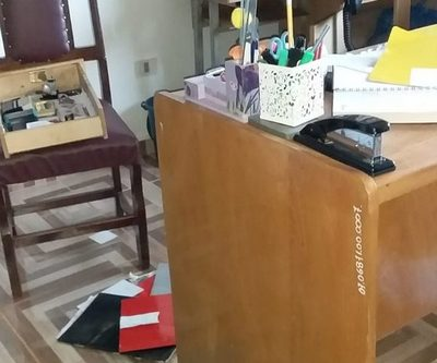 Roban electrodomésticos de oficina del Supervisión en Minga Guazú