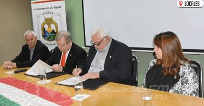 Gobernación de Itapúa firmó un convenio con la UNI para beneficiar a los estudiantes