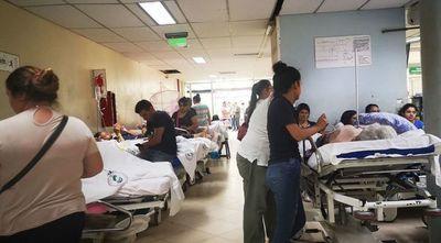 Clima de guerra en el hospital central del IPS