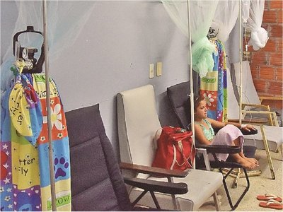 IPS: Entre obras, clínica de Luque atiende a pacientes con dengue