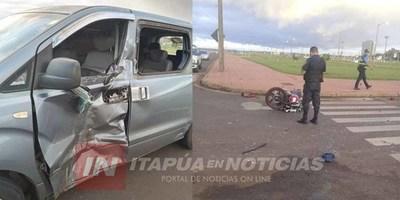 GRAVE ACCIDENTE DE TRÁNSITO SOBRE AVDA. MCAL LÓPEZ DE ENCARNACIÓN