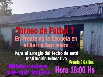 Organizan torneo de fútbol para reparar escuela en Caazapá