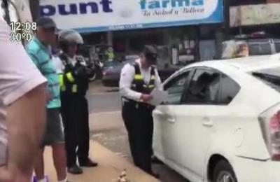 Polémico control a conductores de Uber y MUV en San Lorenzo