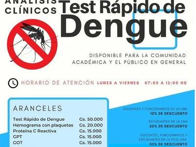Dengue: Facultad de Química ofrece test rápido para su detección
