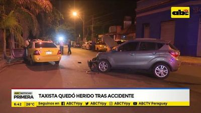 Taxista quedó herido tras accidente