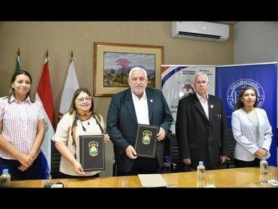 GOBERNACIÓN DE ITAPÚA FIRMA CONVENIO ESPECÍFICO DE COOPERACIÓN CON LA UCI