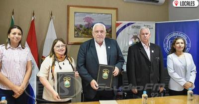 UCI firmó convenio con la Gobernación de Itapúa para beneficiar a los estudiantes