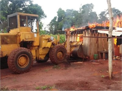 Otro megaoperativo de desalojo en Reserva de Campos Morombi