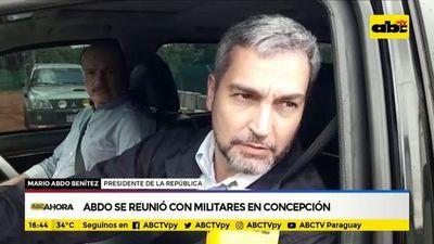 Abdo se reunió con militares en Concepción