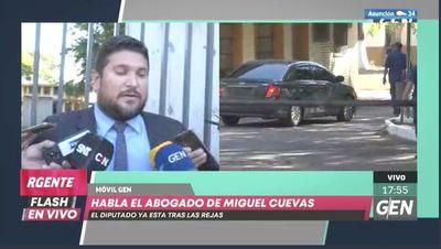 Miguel Cuevas ya está en su celda