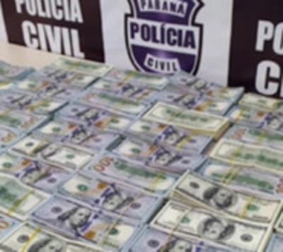Paraguayas caen USD 500.000 e Brasil