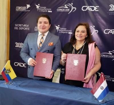 Paraguay y Ecuador firman convenio en pos del Deporte