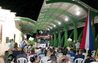 Inauguran nueva terminal de ómnibus en Presidente Franco