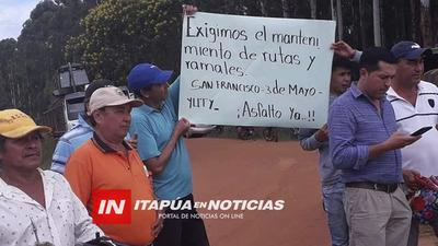 RETRASO DEL INICIO DE OBRAS DE ASFALTO EN YUTY-3 DE MAYO-SAN FRANCISCO