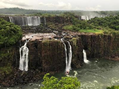 Falta de lluvia reduce volumen de agua en las Cataratas del Iguazú