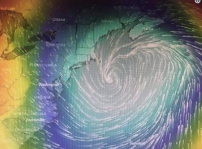 """""""Ciclón bomba"""" llegaría a Estados Unidos"""