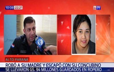 Madre denuncia a su hija y yerno por robo de G. 94 millones