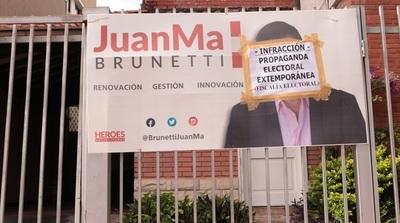 Fiscalía Electoral elimina de la vía pública propaganda electoral extemporánea
