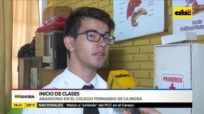Inicio de clases: Abandono en el colegio Fernando de la Mora