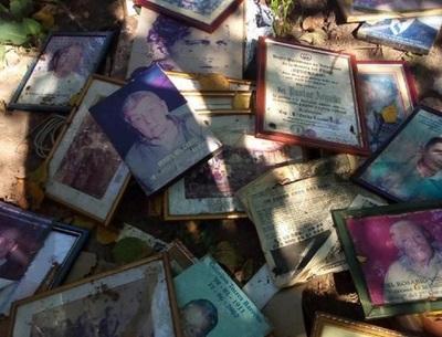Tiran a la basura fotografías de excombatientes del Chaco