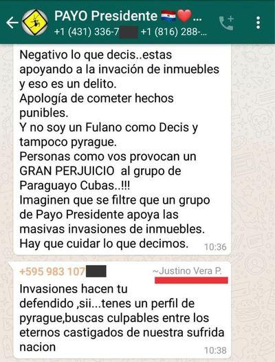 Denuncian que militantes de Payo Cubas instigan la toma de tierras privadas