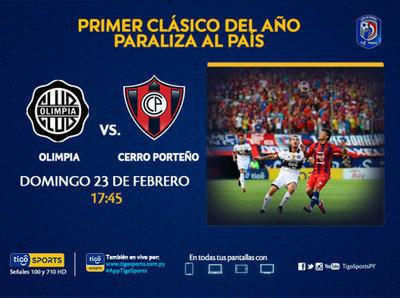Olimpia y Cerro Porteño dan vida a la máxima fiesta del fútbol paraguayo