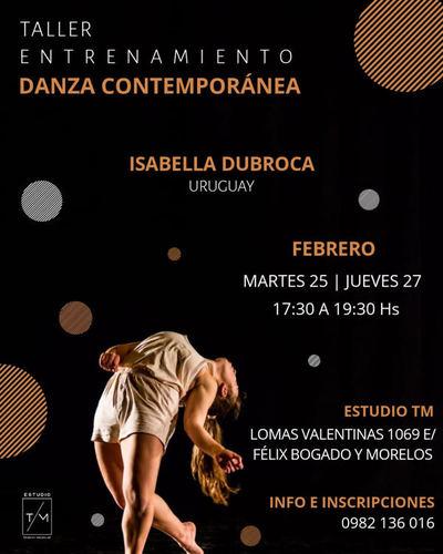 Taller de Danza Contemporánea con Isabella Dubroca
