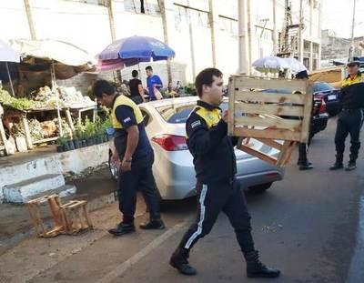 Nuevo despeje en zona del Mercado de Luque •