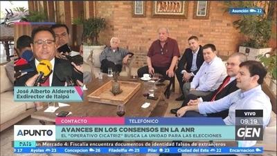 HOY / José Alberto Alderete, Exdirector de Itaipú, sobre los avances en los consensos en la ANR