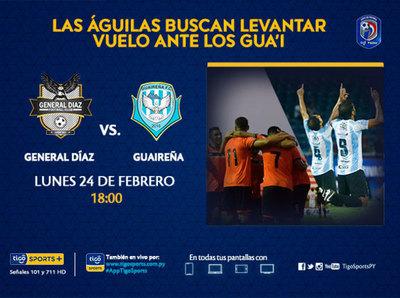 Previa del partido General Díaz vs. Guaireña FC