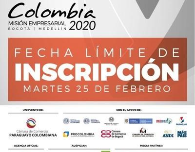 Inscripción para empresas interesadas en participar de misión en Colombia se cierra este martes
