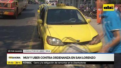 Muv y Uber contra ordenanza en San Lorenzo