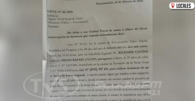 Fiscalizador denunció una supuesta agresión de un concejal de Encarnación