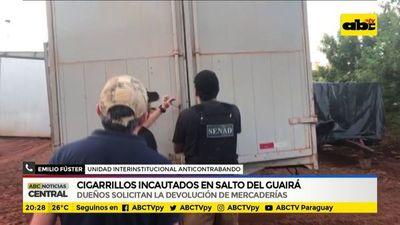 Cigarrillos incautados en Santo del Guairá: Dueños solicitan devolución de las mercaderías