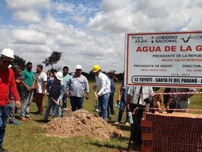 INDERT inicia obras del sistema de abastecimiento de agua potable