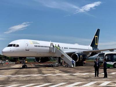 Avión de la National Geographic Expeditions aterrizó en Foz de Yguazú