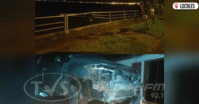 Baranda protectora evitó que un vehículo caiga al río Paraná