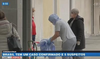 Brasil en alerta ante primer caso de coronavirus
