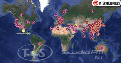 Google activó Mapa en Tiempo Real que muestra los casos de coronavirus