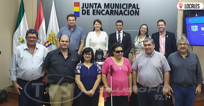 Junta Municipal firmó convenio de cooperación con la Asociación de Personas con Discapacidad