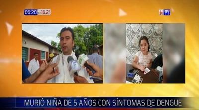 Niña con síntomas de dengue fallece en Concepción