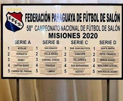 Se pone en marcha el 50º nacional de fútbol de salón en Misiones