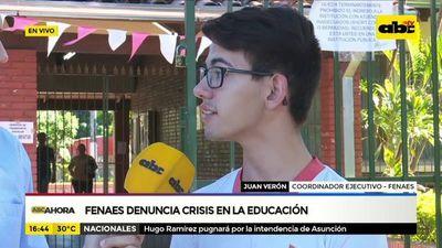 Educación aplazada: Fenaes no descarta movilizaciones
